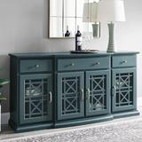 "Lark Manor™ Hennigan 60"" Wide 3 Drawer Sideboard Wood in Green/Blue, Size 30.5 H x 59.75 W x 15.75 D in | Wayfair A2FAE79567EB47E89B689649E916116B"
