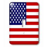 3dRose American Flag Patriotic USA Stars & Stripes & 4Th July America Patriot 1-Gang Toggle Light Switch Wall Plate in Blue/Red   Wayfair