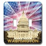 3dRose Washington Dc Patriotic American Flag w/ Bald Eagle & Capitol Building 2-Gang Toggle Light Switch Wall Plate in Yellow   Wayfair lsp_19413_2