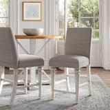 """Kelly Clarkson Home Heidi 24"""" Counter Stool Wood/Upholstered in Brown/Gray, Size 41.5 H x 18.75 W x 24.0 D in   Wayfair"""