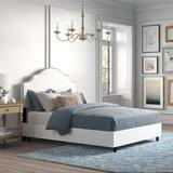 Kelly Clarkson Home Hallie Upholstered Standard Bed Cotton/Cotton Blend in Black/Brown, Size 54.0 H x 74.0 W x 87.0 D in   Wayfair