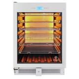 Vinotemp 41 Bottle Single Zone Freestanding/Built-in Wine Refrigerator in White, Size 34.38 H x 25.5 W x 23.5 D in | Wayfair EL-WCU112-02