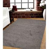 Ebern Designs Lucasville Tufted Gray Indoor/Outdoor Area Rug Polypropylene in White, Size 60.0 H x 36.0 W x 0.02 D in | Wayfair