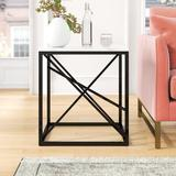 Mercury Row® Catanzaro Frame End Table Marble Look/Metal in Black/Gray/White, Size 24.0 H x 22.0 W x 22.0 D in | Wayfair