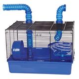 """Ware Manufacturing Small Animal Cage, Acrylic/Plastic/Metal in Blue, Size 19""""H X 20""""W X 16""""D 