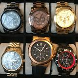 Michael Kors Accessories   5 Michael Kors Watches + 1 Guess Watch + Watch Box   Color: Black/Brown   Size: Os
