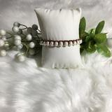 American Eagle Outfitters Jewelry   American Eagle Leather & Beaded Pearls Bracelet   Color: Brown/White   Size: 7.5 Inches