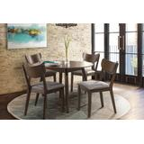 5PC Mid-Mod Round Dining Set in Chestnut - Hillsdale Furniture 4702DTR5PC