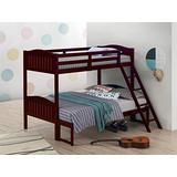 Coaster Home Furnishings Pauline Solid Wood Twin Over Full Bunk Bed, Espresso