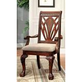 "Astoria Grand Ryann Queen Anne Back Arm Chair in Cherry, Wood/Upholstered, Size 42""H X 24""W X 26""D | Wayfair 16A5424190B54EEFA874D15FDD2E33D3"