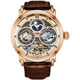 Legacy Automatic Rose Gold Dial Mens Watch - Metallic - Stuhrling Original Watches