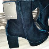 Zara Shoes | Final $30 Zara Blue Suede Platform Ankle Boots | Color: Blue | Size: 9