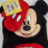 Disney Accessories | Boys Mickey Hat Amd Gloves | Color: Black/Red | Size: Osbb