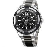 Chronograph Quartz Black Dial Watch - Metallic - August Steiner Watches