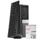 Dell OptiPlex 980 PC Desktop Computer, Intel i5-650 3.1GHz, 16GB RAM, 1TB HDD, Windows 10 Pro, Microsoft Office 365 Personal, New 16GB Flash Drive, Wireless Keyboard & Mouse, WiFi, Bluetooth (Renewed)