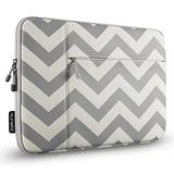 Runetz Sleeve for MacBook Pro 16 inch Sleeve Neoprene 2020 2019 Laptop Sleeve Notebook Cover Bag Case with Accessory Pocket for 16 inch MacBook Pro, Chevron Gray