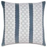 """Eastern Accents Aesha Striped 20"""" Throw Pillow Polyester/Polyfill/Polyester/Polyester blend in Blue/Gray, Size 20.0 H x 20.0 W x 4.0 D in 