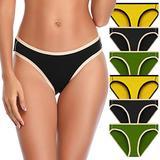 OPIBOO Women's Cotton Underwear,Soft Underwear Women Briefs,Ladies Comfort Breathable Underpants Panties (Multicoloured 6, Large, l)
