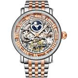 Legacy Automatic Rose Dial Two-tone Watch - Metallic - Stuhrling Original Watches