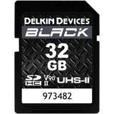 Delkin Devices 32GB BLACK UHS-II SDHC Memory Card DSDBV9032