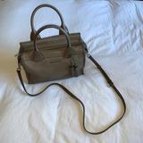 Michael Kors Bags | (New Wo Tags) Michael Kors Geneva Leather Satchel | Color: Gray/Tan | Size: Os