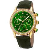 Quartz Crystal Green Dial Watch - Green - August Steiner Watches