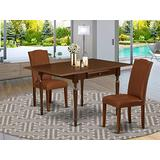 East West Furniture Dining Table Set, Mahogany