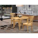 East West Furniture Dining Table Set, Oak