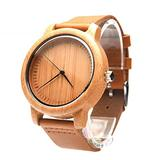 Hemobllo Mens Wooden Watches - Analog Quartz Watch Mens Wood Watches Vintage Casual Wrist Watch with Leather Strap Stylish Wood Watch