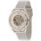 Fossil Women's Tailor Mechanical ME3166 Silver Stainless-Steel Automatic Self Wind Fashion Watch
