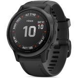 Fenix 6s Black Silicone Strap Smartwatch - Black - Garmin Watches