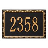 Seranto Address Plaque - Black/Gold - Grandin Road