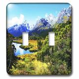 3dRose Routeburn Track Landscape 2-Gang Toggle Light Switch Wall Plate in Green, Size 5.0 H x 4.5 W x 0.06 D in | Wayfair lsp_48122_2