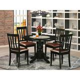 Beachcrest Home™ Langwater Solid Wood Dining Set Wood in Brown, Size 30.0 H x 42.0 W x 42.0 D in | Wayfair BCHH7438 41919239