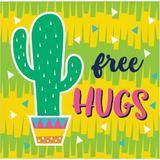 Creative Converting Fun Cactus Basic Paper Disposable Cocktail Napkin Paper in Green/Yellow   Wayfair 339789