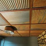 Dakota Tin Colorado 2 ft. x 2 ft. Drop-in Metal Ceiling Tile in Rust in Brown, Size 24.0 H x 24.0 W x 0.5 D in | Wayfair CO-2424-R