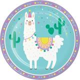Creative Converting Llama Party Basic Paper Disposable Dinner Plate Paper in Blue   Wayfair 339577