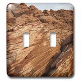 3dRose Striped Landscape of Rocks Decorates Rock Canyon in Nevada, USA 2-Gang Toggle Light Switch Wall Plate in Brown   Wayfair lsp_48001_2