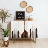 East Urban Home 2 Door Accent Cabinet Wood in Brown, Size 30.0 H x 17.5 D in | Wayfair B02917D13C6D49EDBBD5F620CD9DAC16