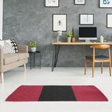 East Urban Home Arizona Flatweave Sedona Red/Black Rug Polyester in Black/Red, Size 72.0 H x 48.0 W x 0.25 D in | Wayfair