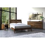 Copeland Furniture Linn Solid Wood Platform Bed Wood in Brown, Size 79.38 W x 88.75 D in | Wayfair 1-LNN-01-94
