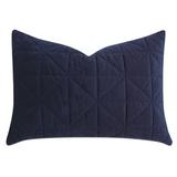 Eastern Accents Carmichael Quilted Sham Silk in Blue, Size 20.0 H x 27.0 W x 1.0 D in   Wayfair 7W-STN-43-IN