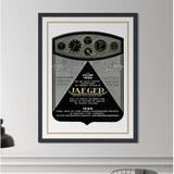Melissa Van Hise 'Jaeger' - Picture Frame Graphic Art Print on Paper Paper in Black/Brown/White, Size 42.62 H x 32.62 W x 1.5 D in | Wayfair