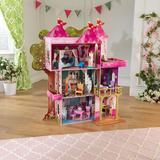 KidKraft Storybook Mansion Dollhouse Manufactured Wood in Brown, Size 52.875 H x 48.0 W x 19.25 D in   Wayfair 65878