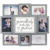 Malden Grandkids Collage Picture Frame Plastic in Gray, Size 17.0 H x 19.5 W x 1.25 D in | Wayfair 9181-08