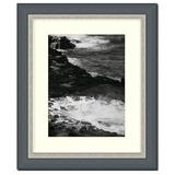 Frames By Mail Traditional Frame in Black w/ Silver Lip Wood in Black/Brown/Gray, Size 18.0 H x 15.0 W x 1.25 D in | Wayfair AAM2044-RM-1114