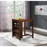 OSP Designs Regal 3 Piece Counter Height Dining Set Wood/Upholstered Chairs in Brown/Gray, Size 36.188 H x 30.125 W x 30.125 D in | Wayfair