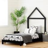 South Shore Sweedi Twin Platform Bed Wood in Black, Size 42.0 W x 79.25 D in   Wayfair 12551