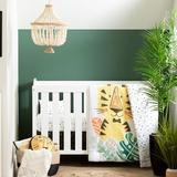 Indigo Safari Elspeth Baby Tiger 6 Piece Crib Bedding Set Polyester in Black/White, Size 38.0 W in   Wayfair 100355