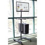 Symple Stuff Guzman Adjustable Laptop Cart Metal in Black, Size 69.0 H x 25.0 W x 9.0 D in   Wayfair MI-7948